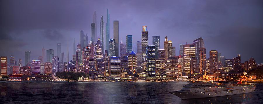 City Digital Art - Sydneys Future by Virginia Palomeque