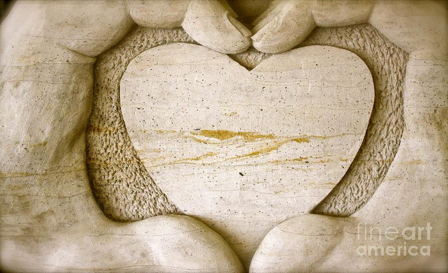 Heart Art Pyrography - Symbol Of Love by Ted Wheaton