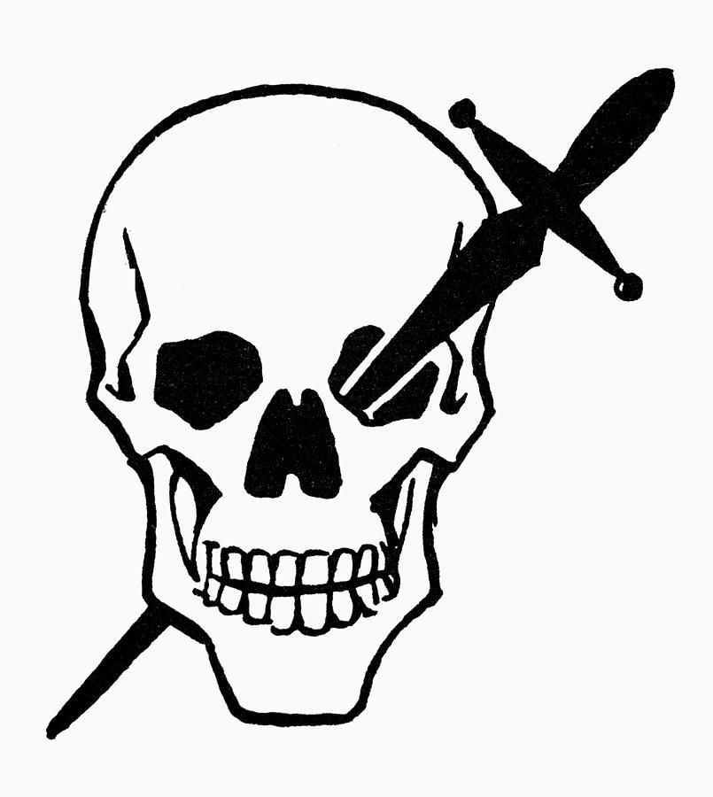 Image result for dagger in a skull