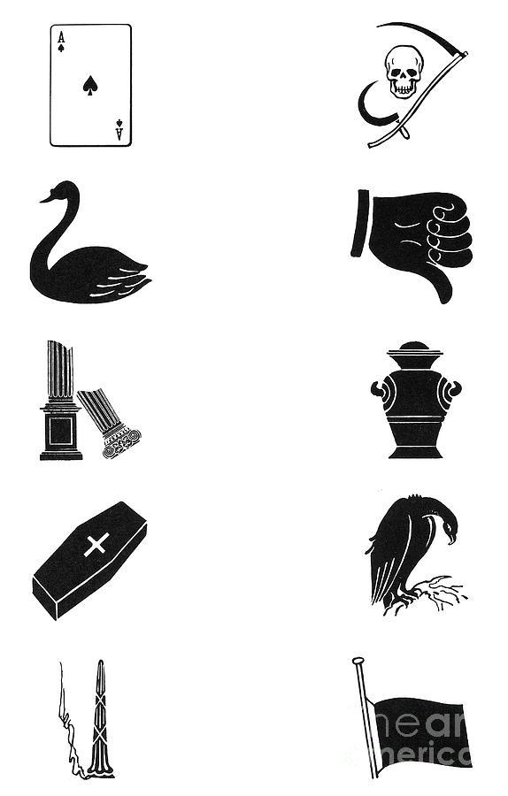 Symbols Death Photograph By Granger