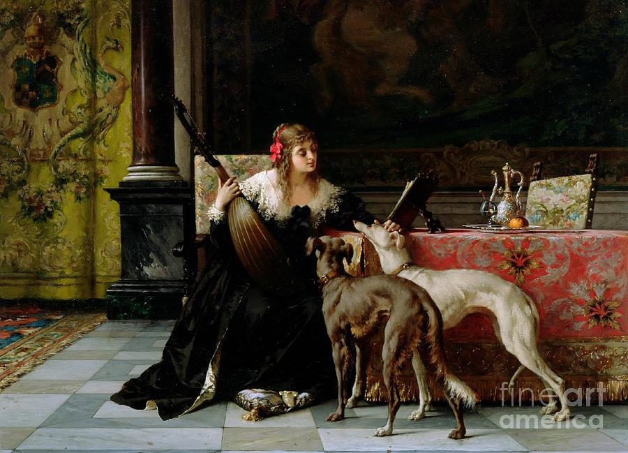 Sympathetic Painting - Sympathetic Friends by Florent Willems