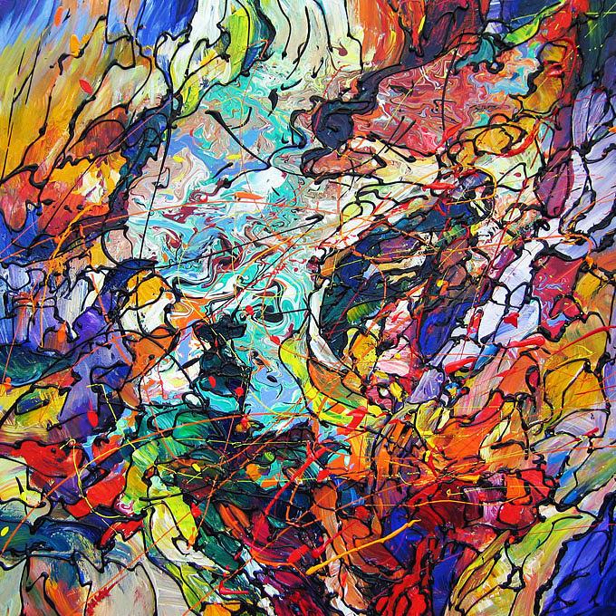Art Painting - Symphony Of Light by Eugenia Mangra