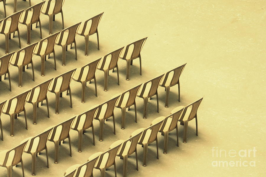 Chairs Photograph - Symphony by Vishakha Bhagat