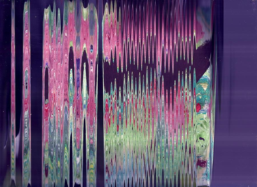 Purple Photograph - Synchonized Magic Heartbeat by Anne-Elizabeth Whiteway