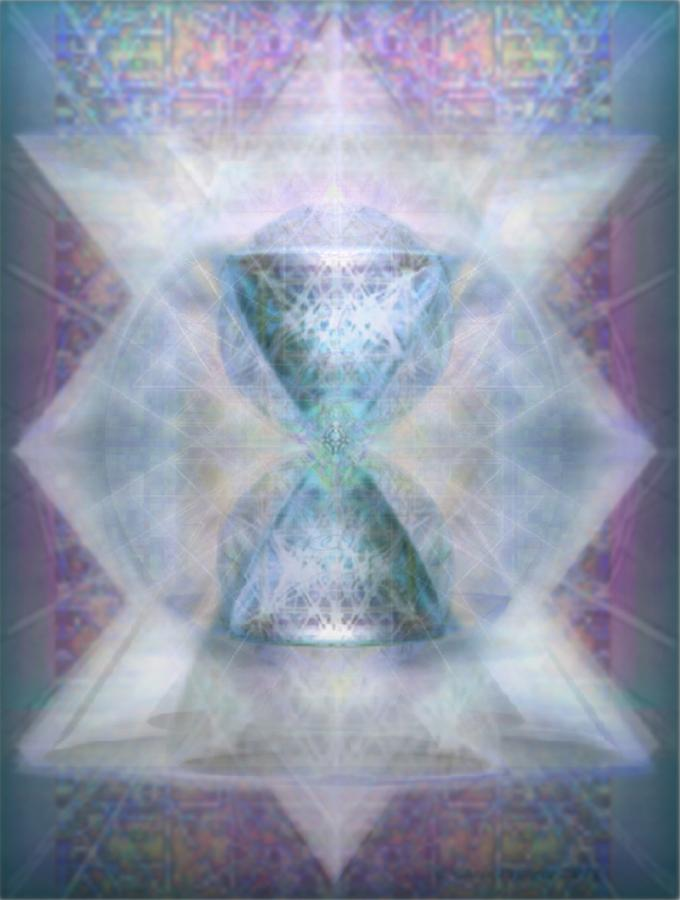 Chalice Digital Art - Synthesphered Chalice fifouray On Tapestry by Christopher Pringer