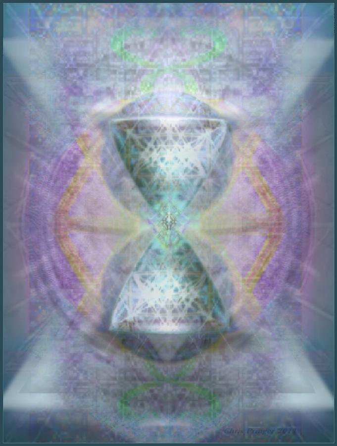 Chalice Digital Art - Synthesphered Grail On Caducus Blazed Tapestrys by Christopher Pringer