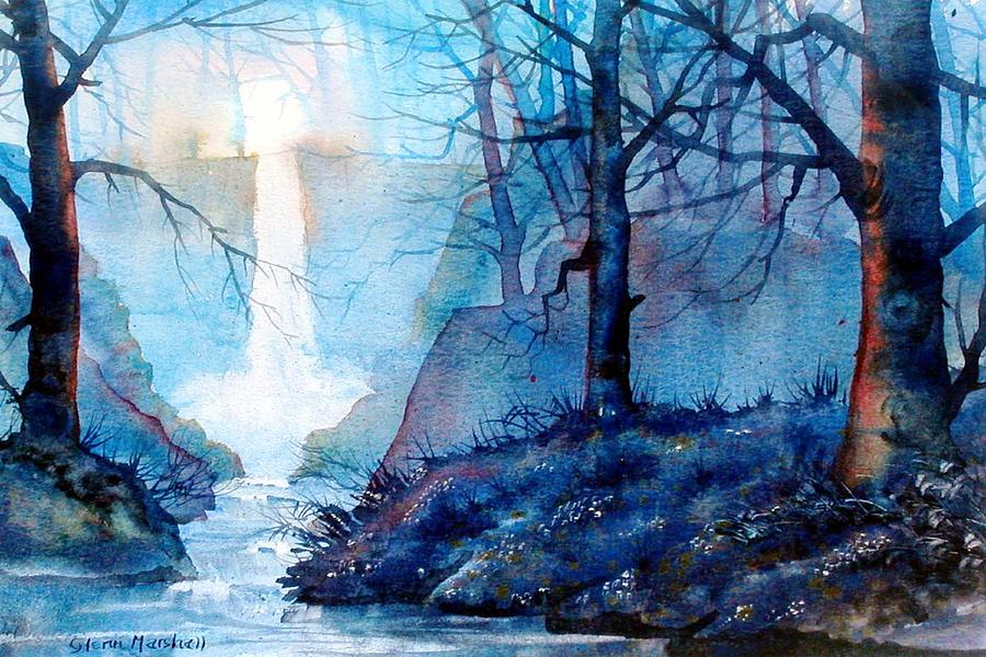 Waterfall Painting - Syvan Spout by Glenn Marshall