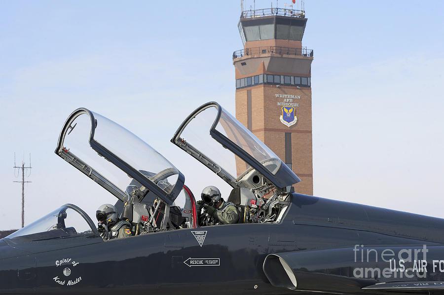 Us Air Force Photograph - T-38 Talon Pilots Make Their Final by Stocktrek Images