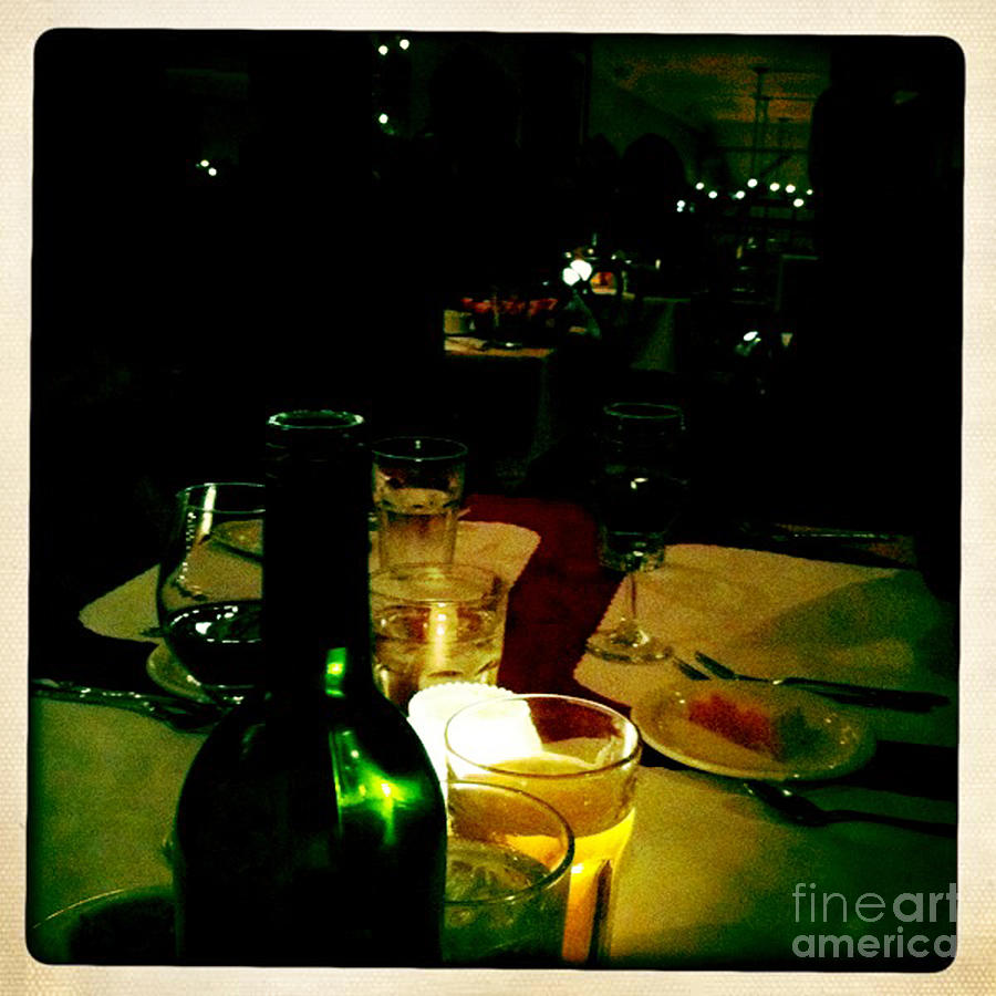 Table Photograph - Table For Two by Leslie Hunziker