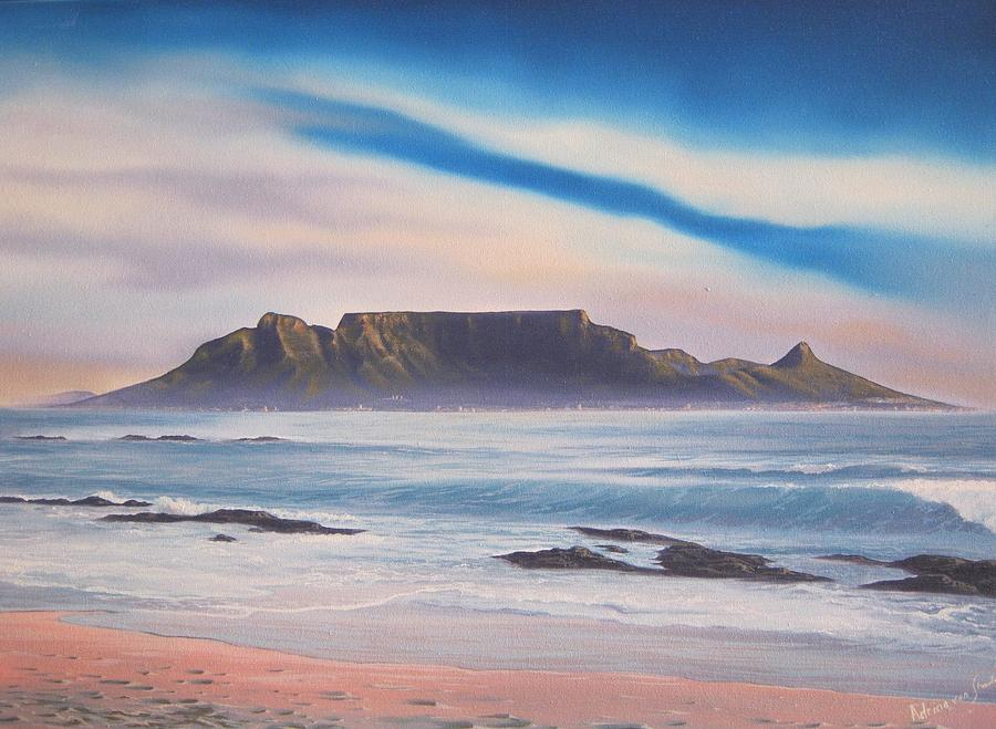 Table Mountain Painting - Table Mountain 1 by Adrian Van Staden