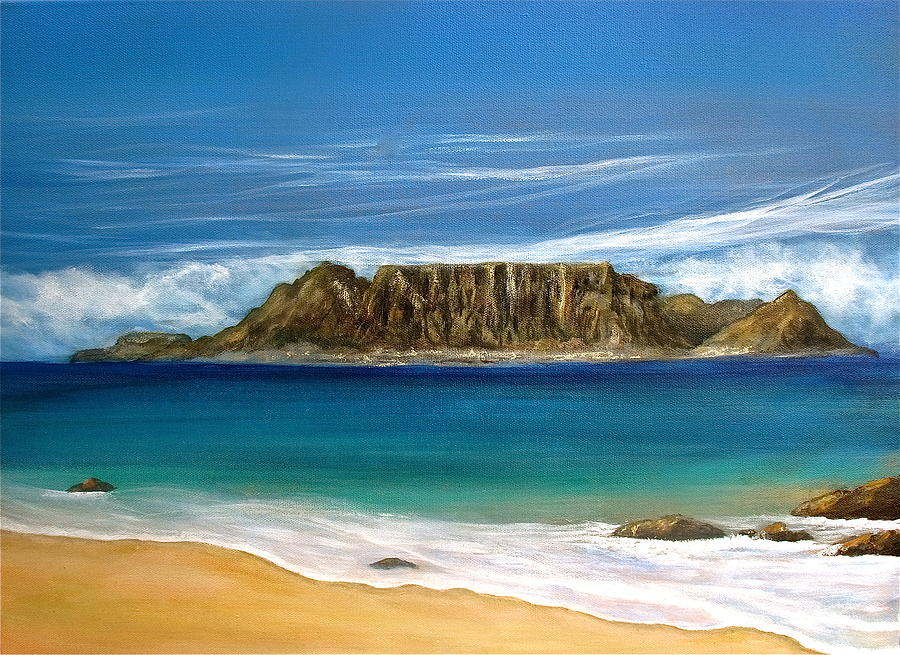 South Africa Painting - Table Mountain 2 by Heather Matthews