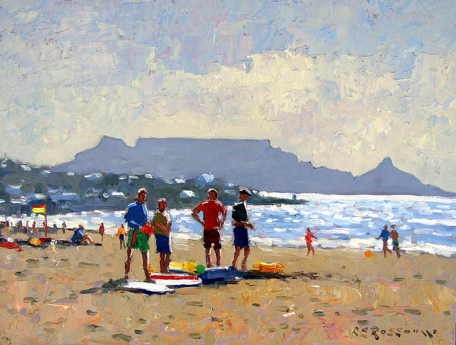 Impressionism Painting - Table Mountain Cape Town by Roelof Rossouw