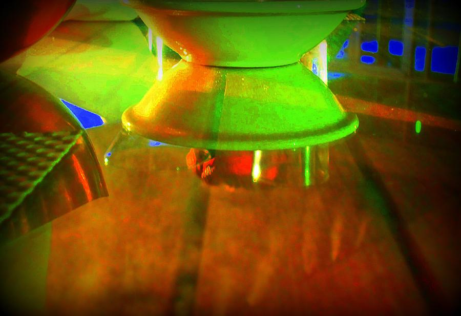 Table Photograph - Table Topsy Turvy by Randall Weidner