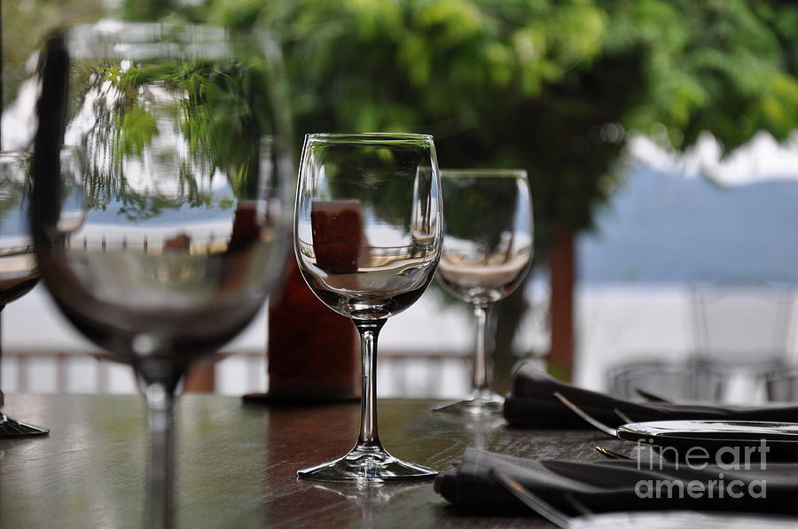 Restaurant Photograph - Table With A View by Tanya  Searcy
