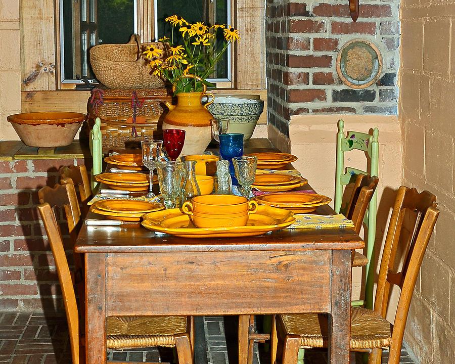 Table Photograph - Tabletop by Susan Leggett