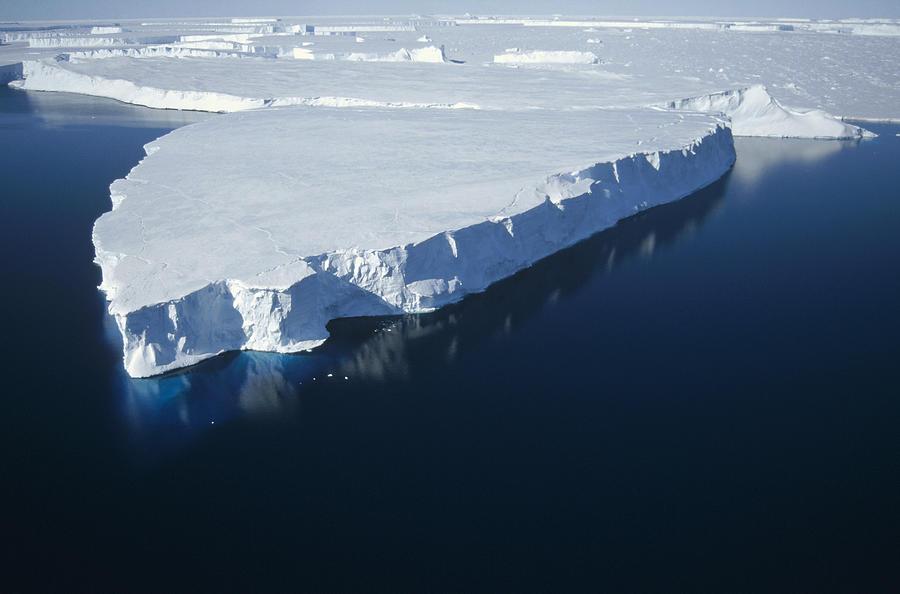 Tabular Iceberg Along Fast Ice Edge Photograph by Tui De Roy