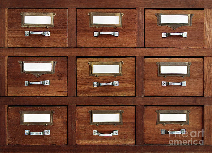 Access Photograph - Tagged Drawers by Carlos Caetano