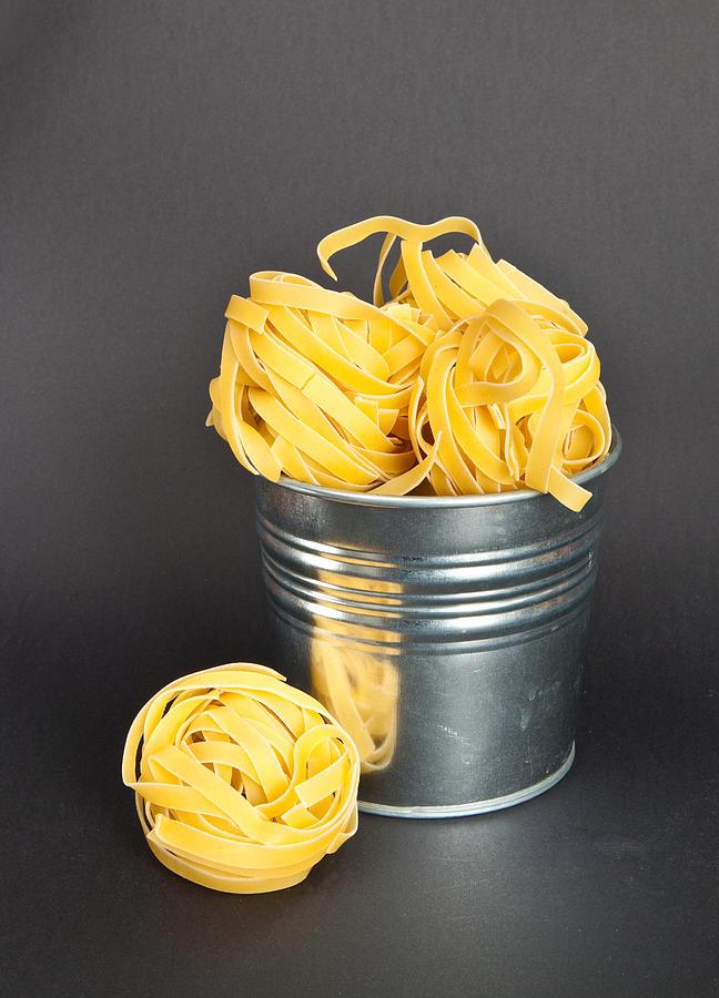 Bucket Photograph - Tagliatelle by Tom Gowanlock