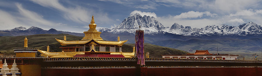 Buddhist Photograph - Tagong Si Monastery Buddhist Temple by Phil Borges