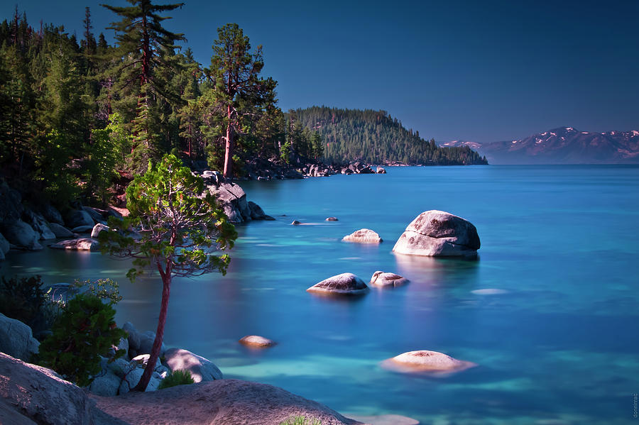 Lake Photograph - Tahoe On The Rocks by Donni Mac