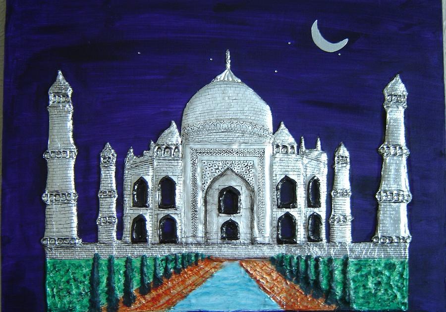 Taj Mahal Painting by Anju Mittal