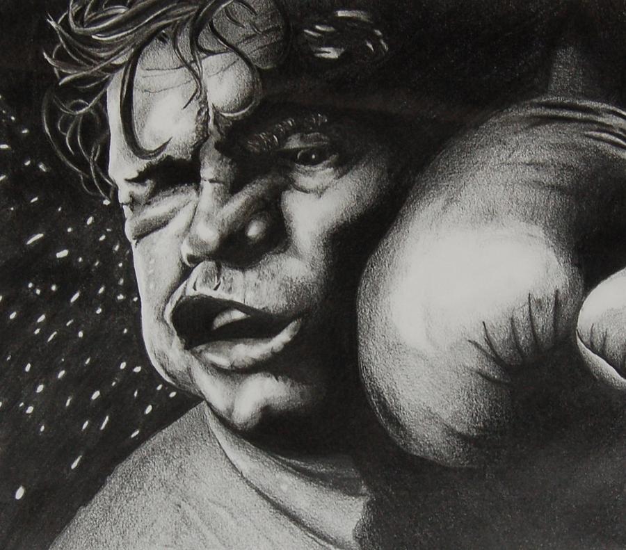 Fight Drawing - Take It Like A Man by Joan Pollak