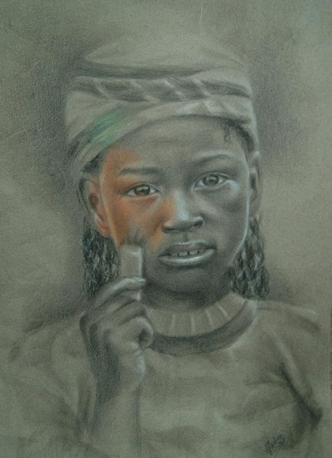 Girl Drawing - Take My Color by Joanna Gates