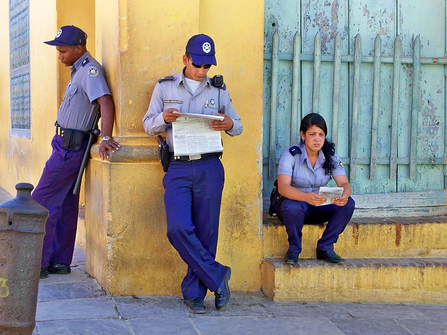 Cuba Photograph - Taking A Break by Lynn Bolt