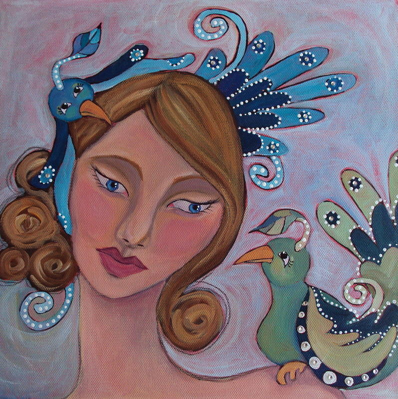 Acrylic Painting Painting - Taking Flight by Suzanne Drolet
