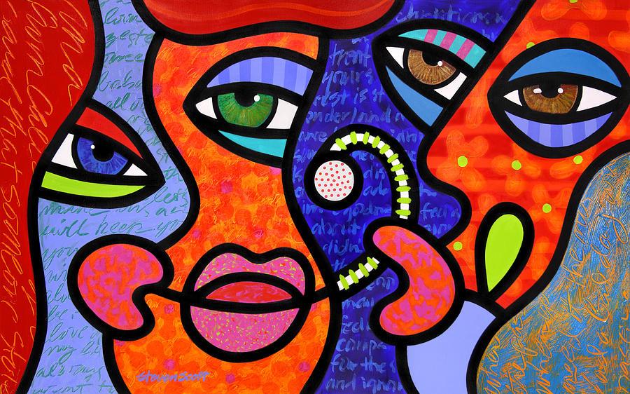 Eyes Painting - Taking The Bait by Steven Scott