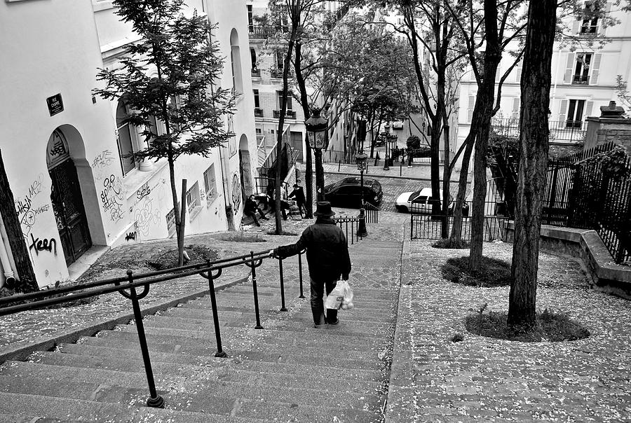 Paris Photograph - Taking The Stairs by Eric Tressler