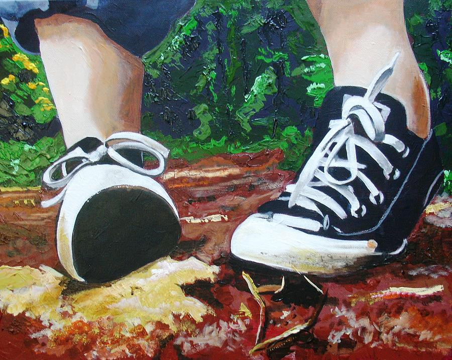 Child Painting - Takkies by Jacqui Simpson