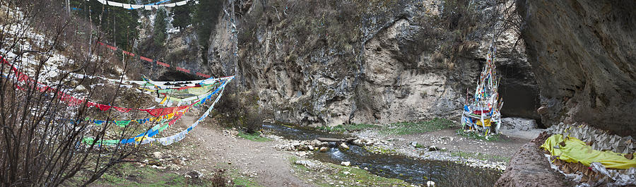 Religious Role Photograph - Taktsang Lhamo Path by Phil Borges