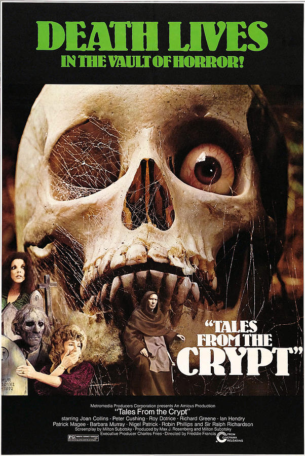 1972 Movies Photograph - Tales From The Crypt, On Left From Top by Everett