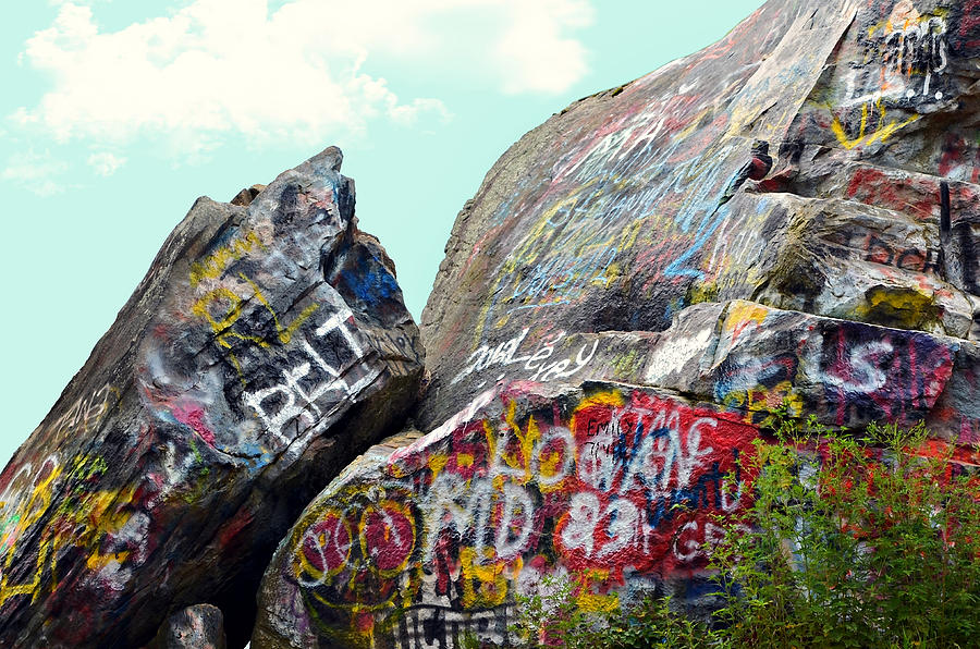 Nature Photograph - Talking Rocks And Sky by Susan Leggett