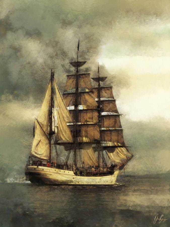 Marcin Digital Art - Tall Ship by Marcin and Dawid Witukiewicz