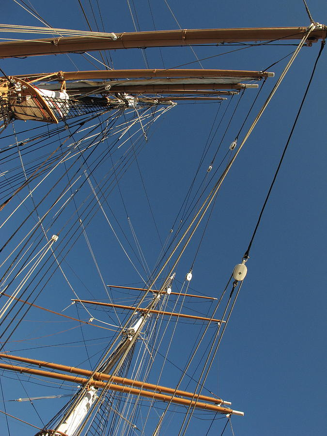 Tall Ship Photograph - Tall Ship Rigging 1 by Winston  Wetteland
