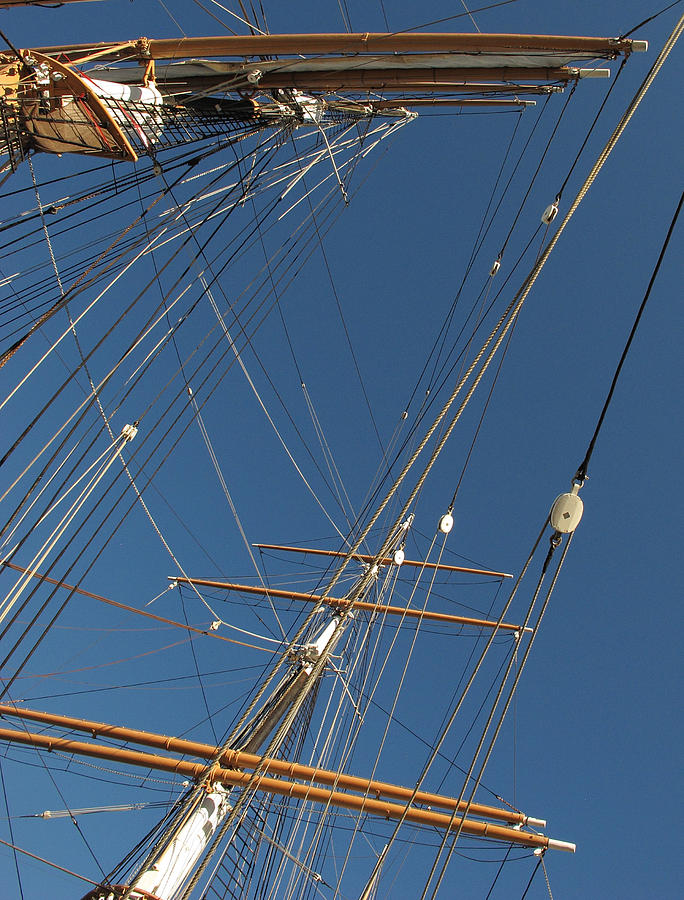 Tall Ship Photograph - Tall Ship Rigging 2 by Winston  Wetteland