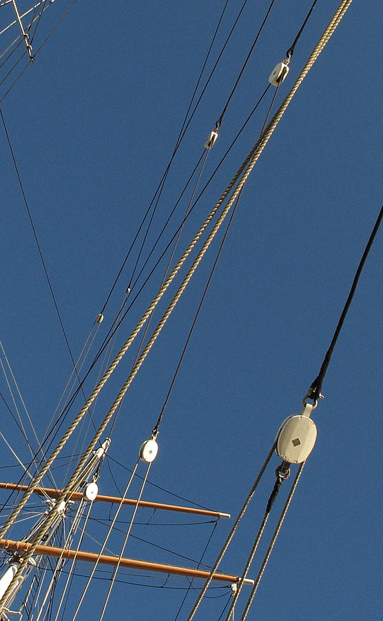 Tall Ship Photograph - Tall Ship Rigging 3 by Winston  Wetteland