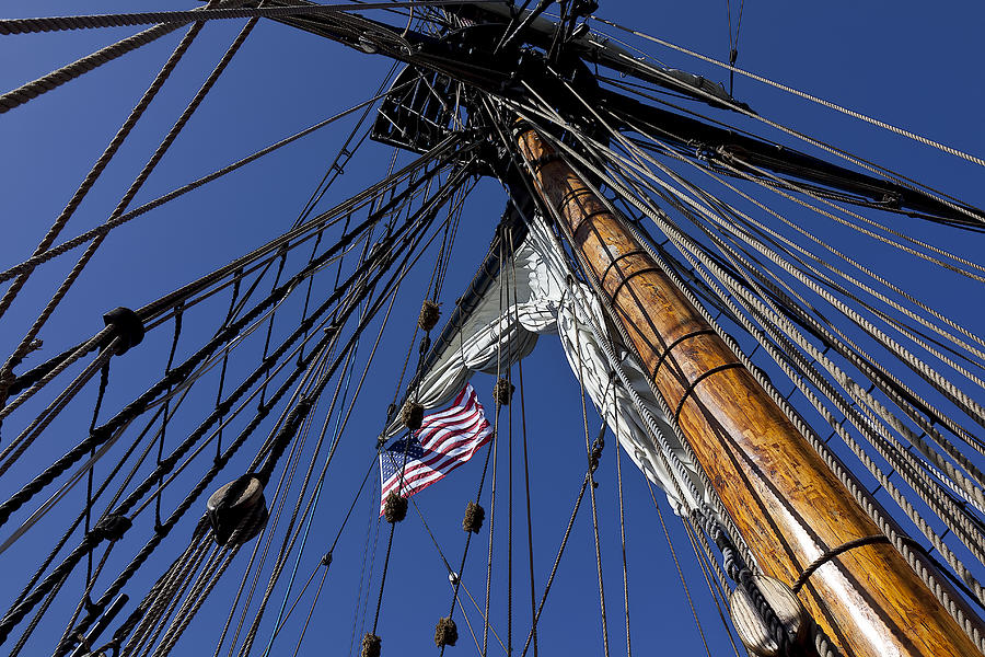 American Photograph - Tall Ship Rigging by Garry Gay