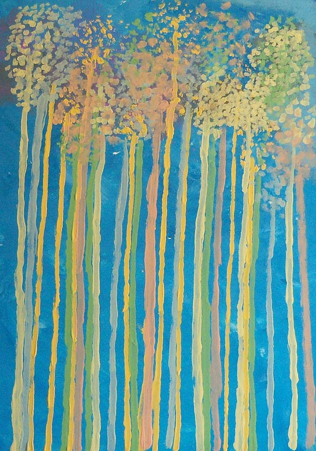 Landscape Painting - Tall Trees by Helene Henderson