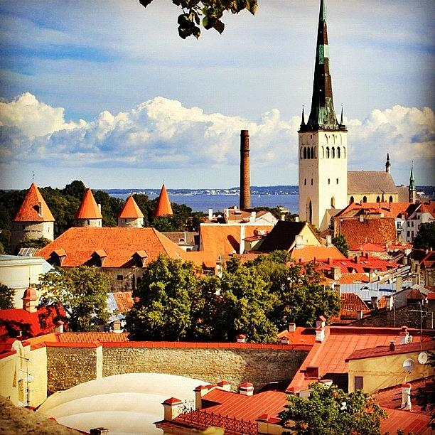 Outdoor Photograph - Tallinn - Estonia by Luisa Azzolini