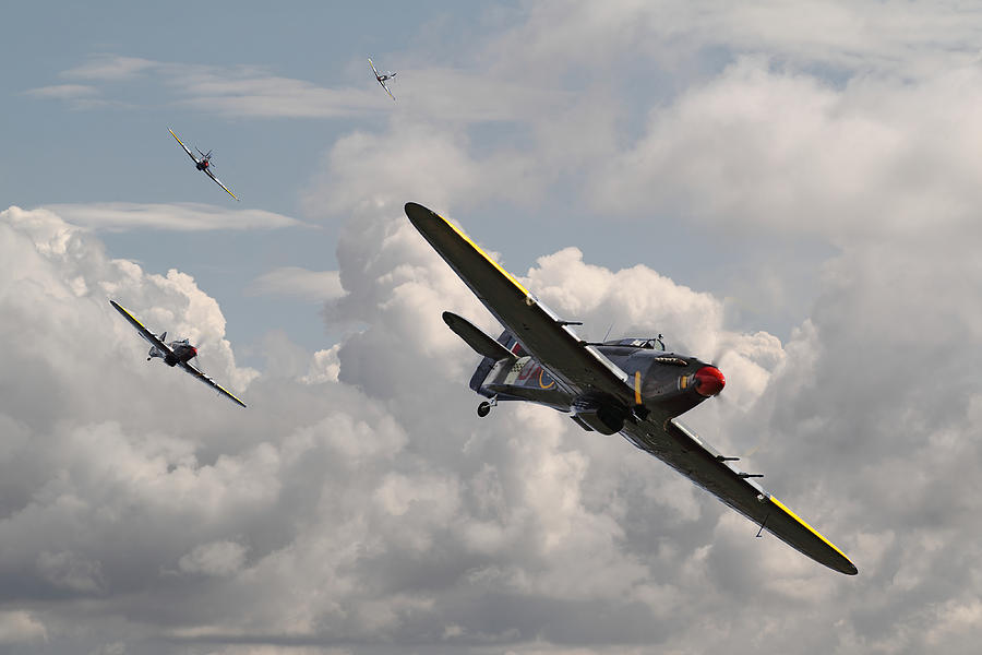 Aircraft Photograph - Hurricane - Tally Ho by Pat Speirs
