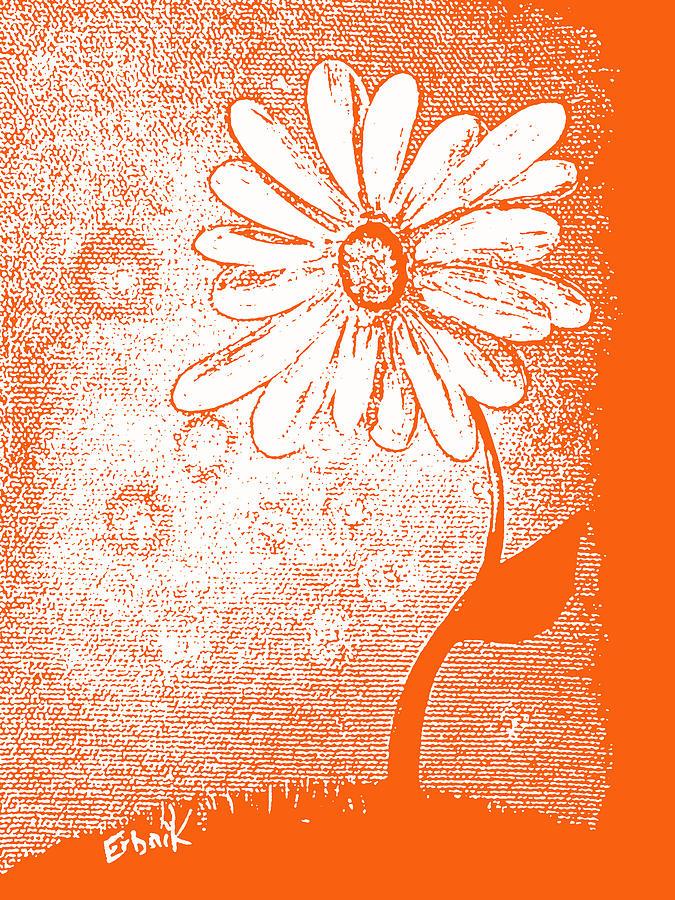 Daisies Painting - Tangerine Daisy By Shawna Erback by Shawna Erback
