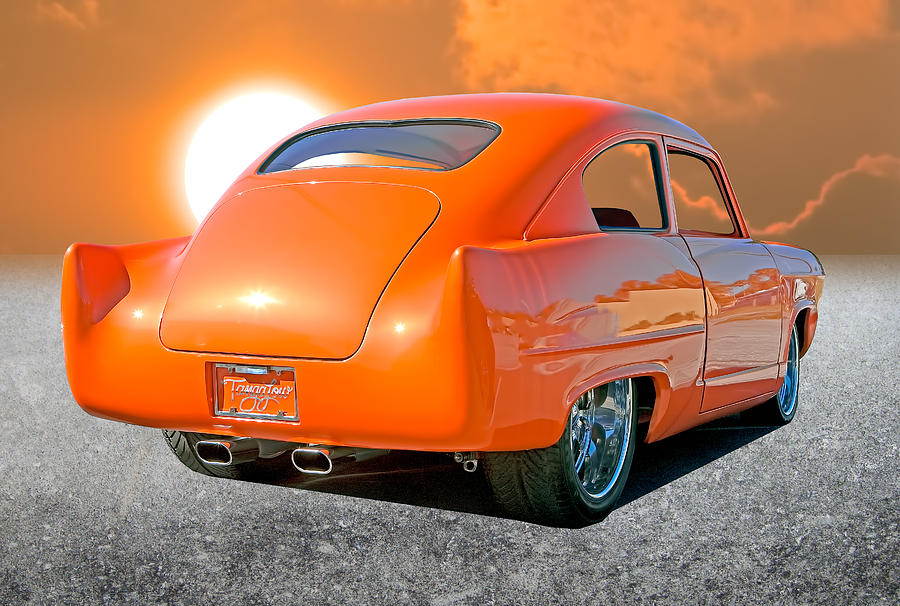 Classic Car Photograph - Tangerine Sunset by Stephen Warren