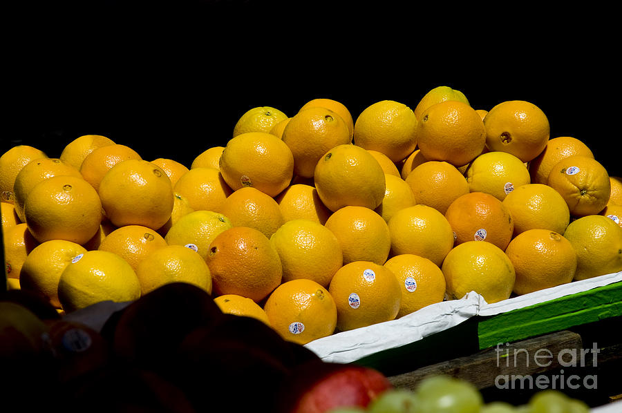 Organic Photograph - Tangerines For Sale by Tim Mulina