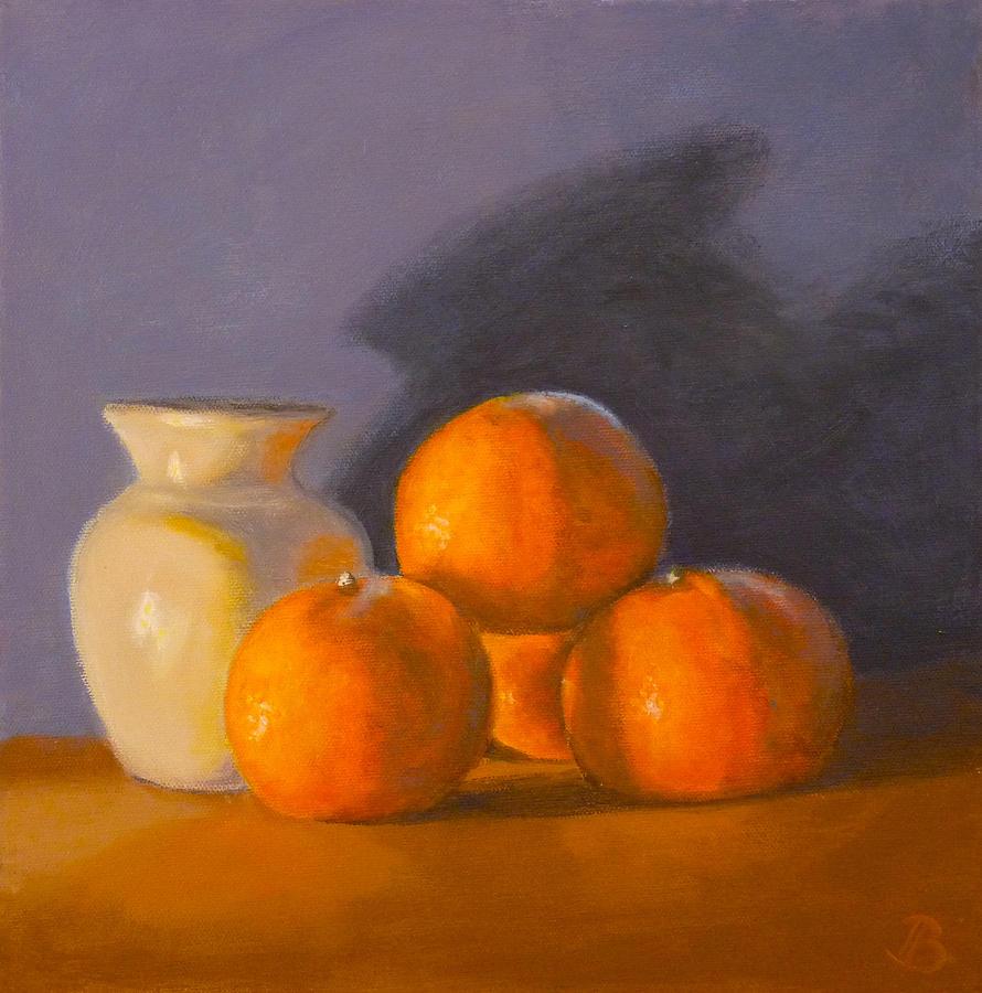 Tangerines Painting - Tangerines by Joe Bergholm