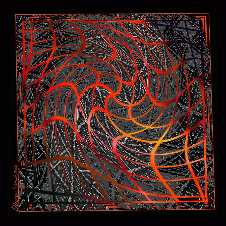 Web Digital Art - Tangled Web Of Lies by Ginny Schmidt