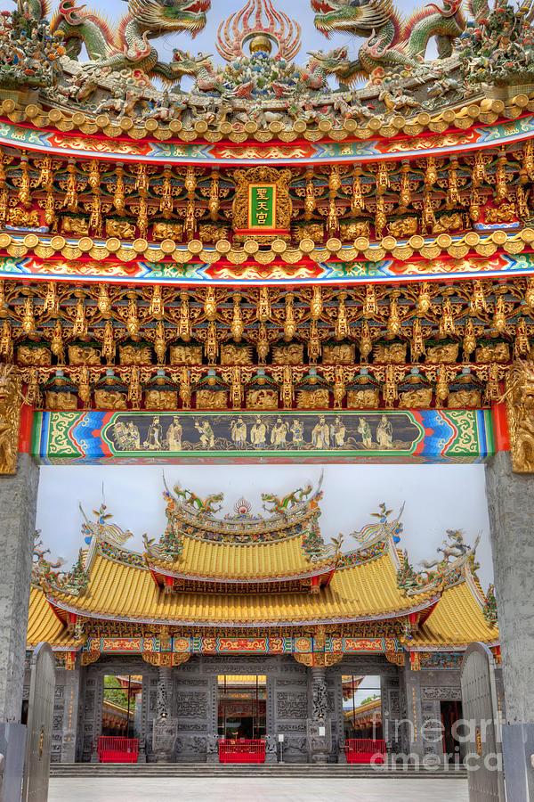 Temple Photograph - Taoist Temple 8 by Tad Kanazaki