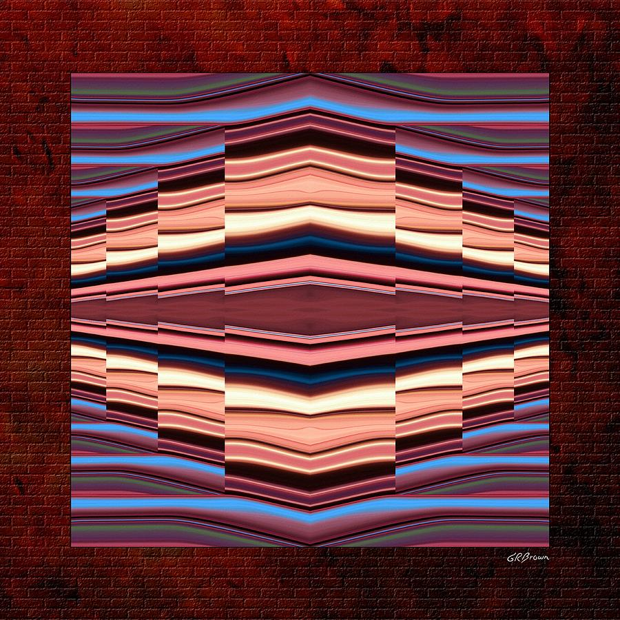 Tapestry Digital Art - Tapestry On A Brick Wall by Greg Reed Brown